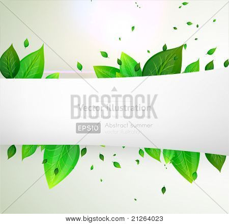 eps10 vector green leaves modern design