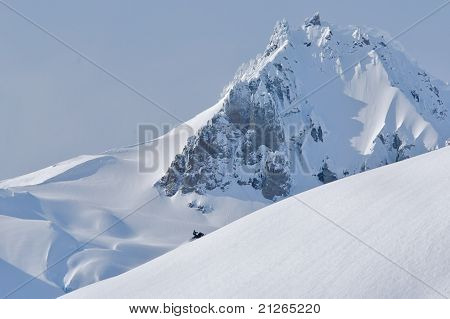 mountain sleding