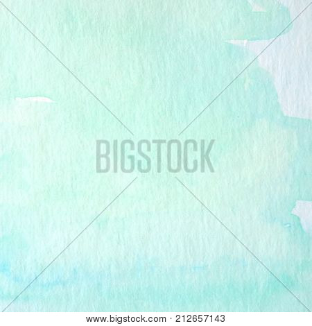 Green and blue abstract watercolor painting textured on white paper background watercolor background for art and design concept