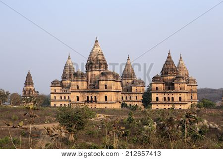 Old temples in Orchha, Madhya Pradesh, India