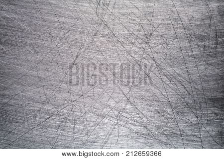 Old Metallic Surface Of A Brushed, Gray Stainless Steel Background For Design