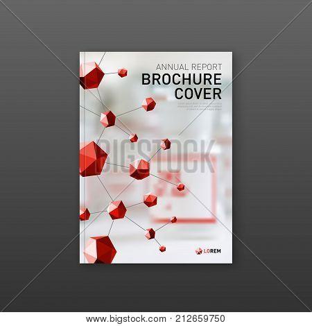 Pharmaceutical brochure cover template, flyer design layout. Applicable for medical catalog, leaflet, flyer or poster.
