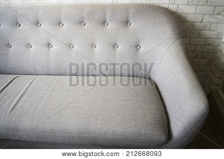 Room ambiance with sofa armchair stock photo