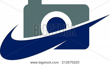 Photography Service Logo Design Template Vector Isolated