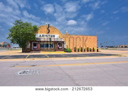 The Ariston Cafe In Litchfield, Illinois.