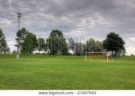 Cloudy Soccer Field