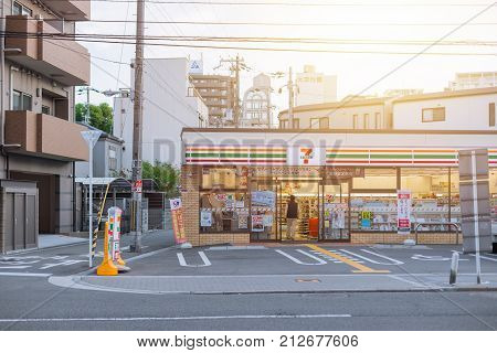 7-11 Opening 24 Hours Convenience Store In Japan Osaka Prefecture November 2015