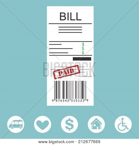 Paying Bill Concept