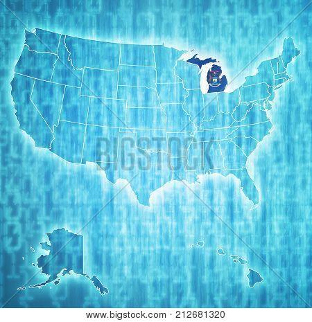 Michigan On Map Of Usa