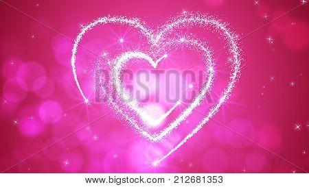 Festive Love Hearts Illustration