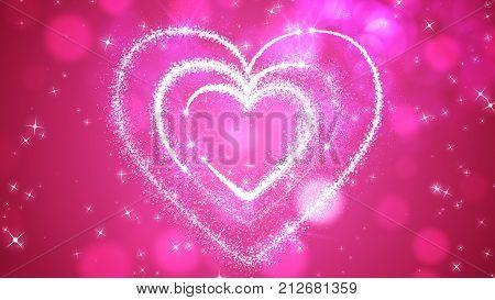 Happy Love Hearts Illustration