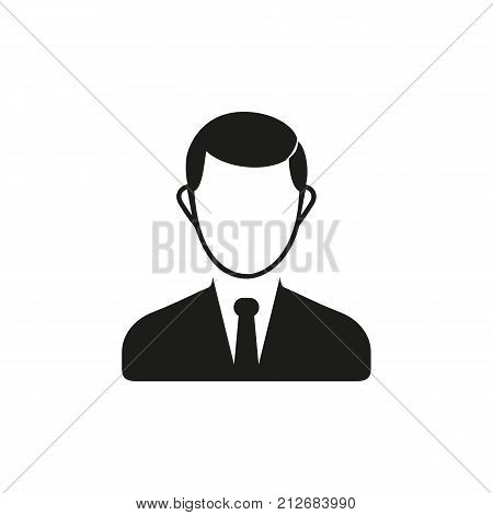 Simple icon of man. Teachers room, user avatar, businessman. School wayfinding concept. Can be used for topics like business, education, staff