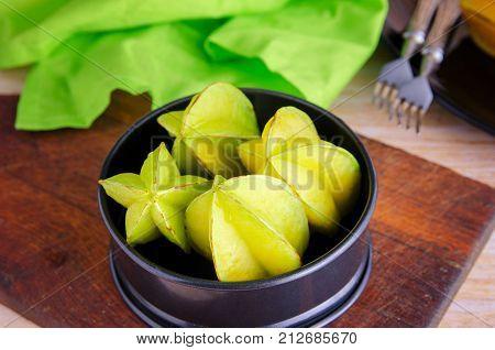 Carambolas Fruit Background.