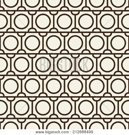 Modern blackwhite abstract seamless repetition pattern with rows of round shapes and semicircles vector illustration