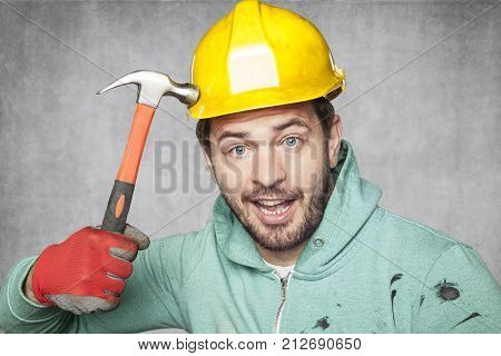 Testing The Helmet With A Hammer