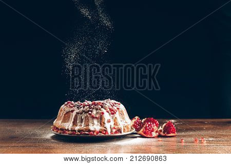 Christmas Cake With Pomegranate
