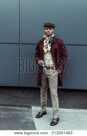 African American Man In Stylish Outfit