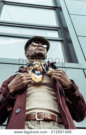 African American Man In Stylish Clothes