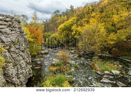 Magnificent River Canyon In The Fall