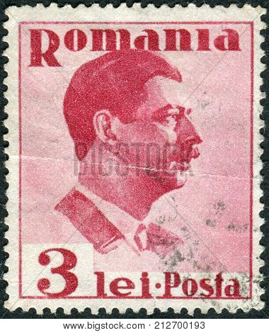 ROMANIA - CIRCA 1935: Postage stamp printed in Romania shows Carol II of Romania circa 1935