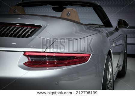 Porsche 911 Carrera S Sports Car Close Up