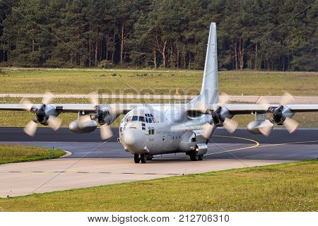 Military Lockheed C-130 Hercules Transport Plane