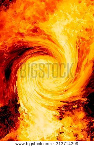 graphic portraying the power and beauty of fire element