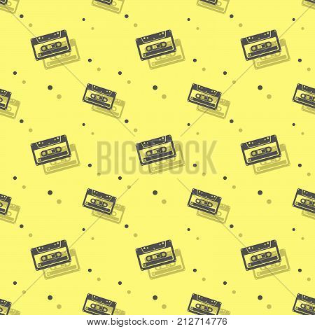 Audio Analogue Cassette Seamless Shadow Background
