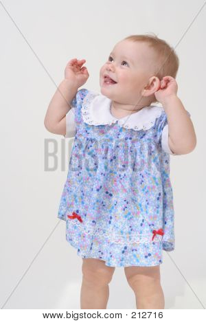 Bbay In White Background
