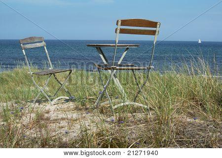 Chairs & beach idyll