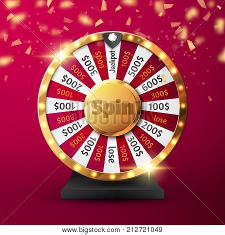 Colorful wheel of luck or fortune infographic. Vector illustration.