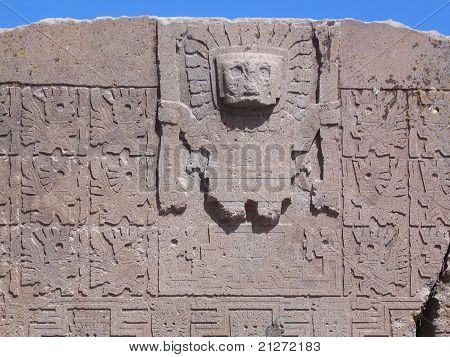 Tiwanaku: Viracocha God - Gate of the Sun detail