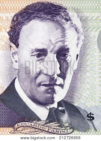 Eduardo Fabini portrait from Uruguayan money - Pesos