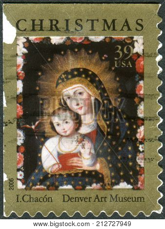 Usa - Circa 2006: Postage Stamp Printed In Usa, Christmas Issue, Shows A Picture Of The Denver Art M