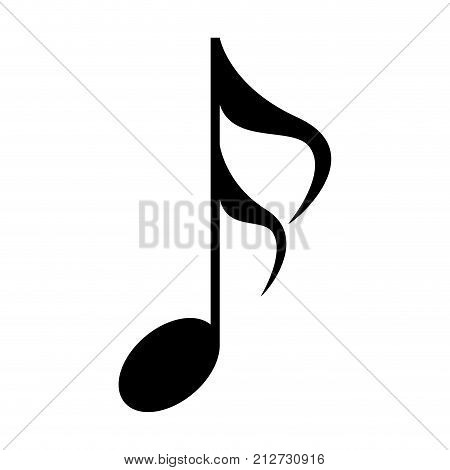 Isolated musical note, Sixteenth note, Vector illustration