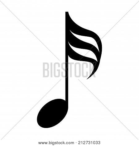 Isolated musical note, Thirty-second note, Vector illustration