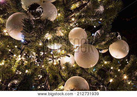 Christmas tree light up ceremony at Christmas time Prague Czech Republic.