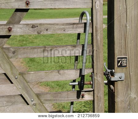A Latch Mechanism to Open and Close a Footpath Gate.