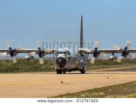 Belgian Air Force C-130 Hercules Cargo Plane