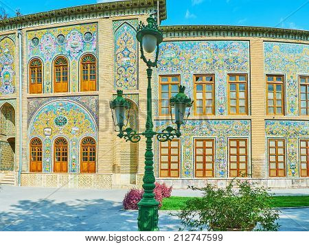 The Vintage Streetlight In Golestan, Tehran
