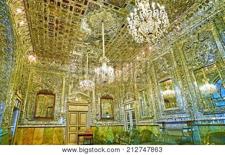 The Mirror Work In Golestan Palace, Tehran
