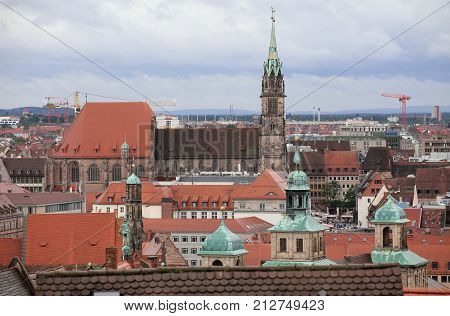 Nuremberg, Germany - Sep 14 2017 : View Over Nuremberg From The Castle