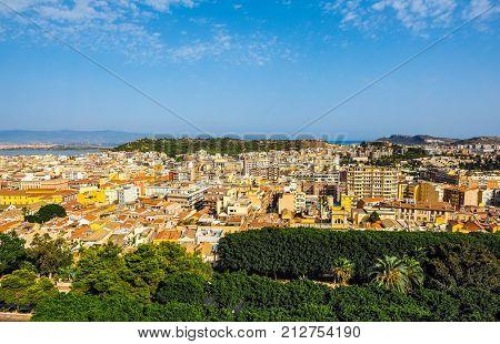 Aerial View Of Cagliari (hdr) (hdr)