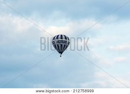 Belarus Minsk - 2017.09.17: Balloon on the celebration of aeronautics