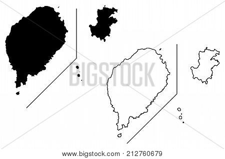 Sao Tome and Principe map vector illustration , scribble sketch Sao Tome and Principe