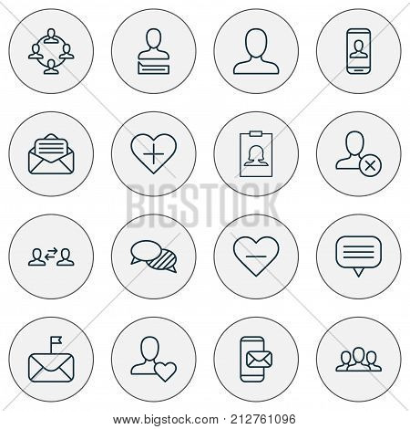 Communication Icons Set. Collection Of Significant, Add, Business Exchange And Other Elements
