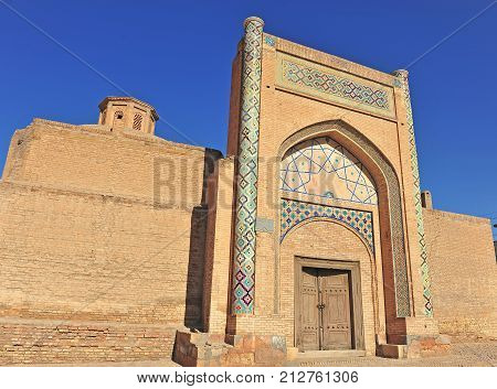 Bukhara: view of the old medieval gate