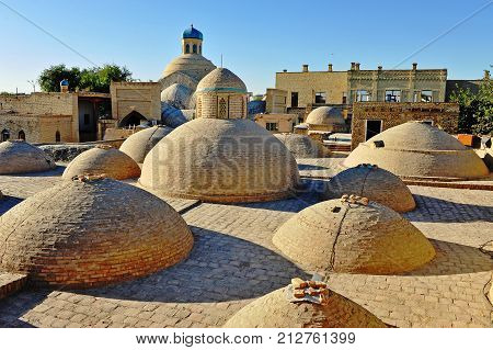 Bukhara: view of the old town architecture