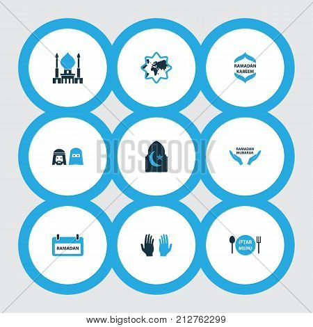 Holiday Colorful Icons Set. Collection Of Religion, Dishes, World And Other Elements