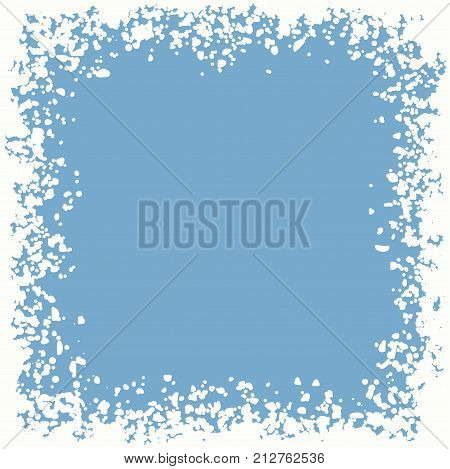 vector winter snow border background with copy space. christmas holiday frame with snowflakes. xmas illustration